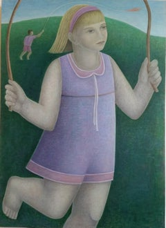 Skipping Girl. Contemporary Scottish Figurative Painting