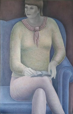 """Woman Reading"" . Contemporary Figurative Oil Painting"