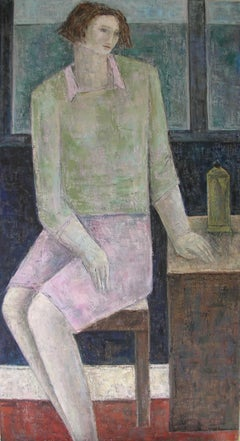 Woman With Coffeepot. Contemporary Scottish Art