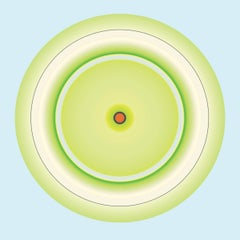 Lime Circle with Red Centre