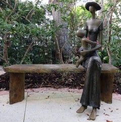 Mother and Child on Bench
