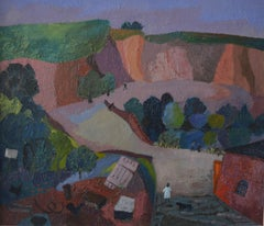 Modernist landscape, The road through the village