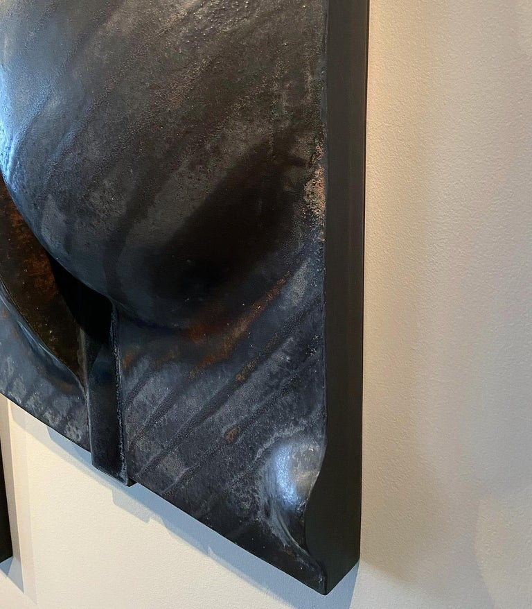 Rare Black Wall Sculpture by Ruth Duckworth For Sale 1