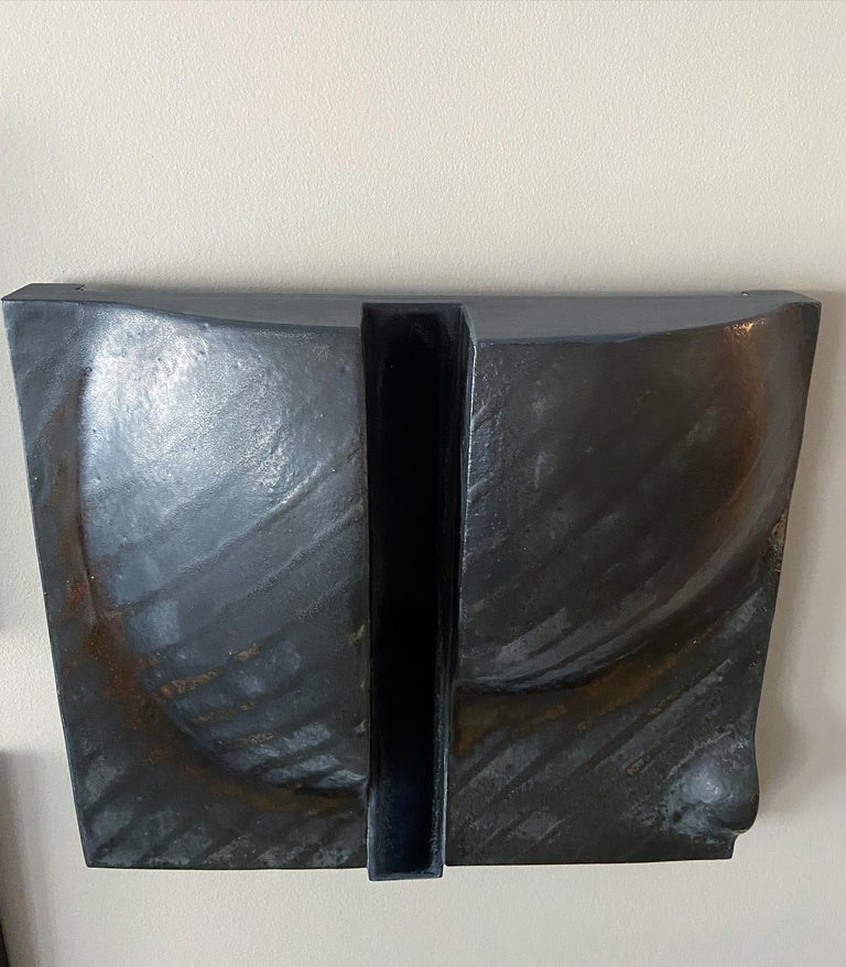 Rare Black Wall Sculpture by Ruth Duckworth For Sale 2