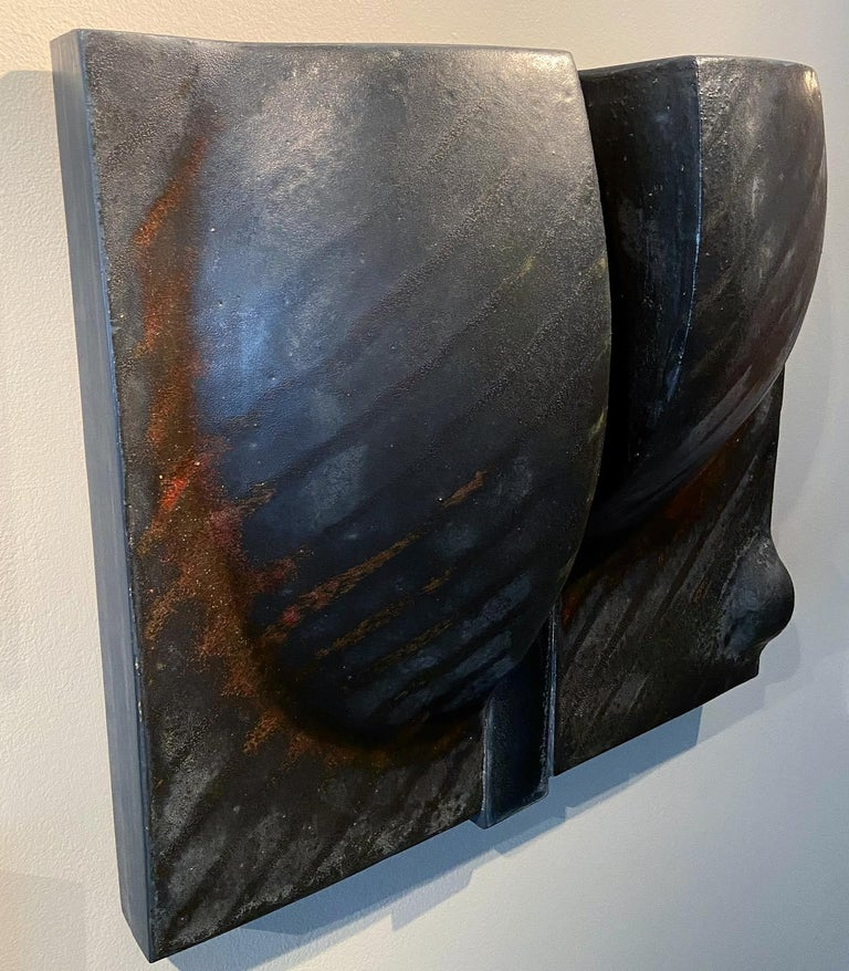 Rare Black Wall Sculpture by Ruth Duckworth For Sale 3