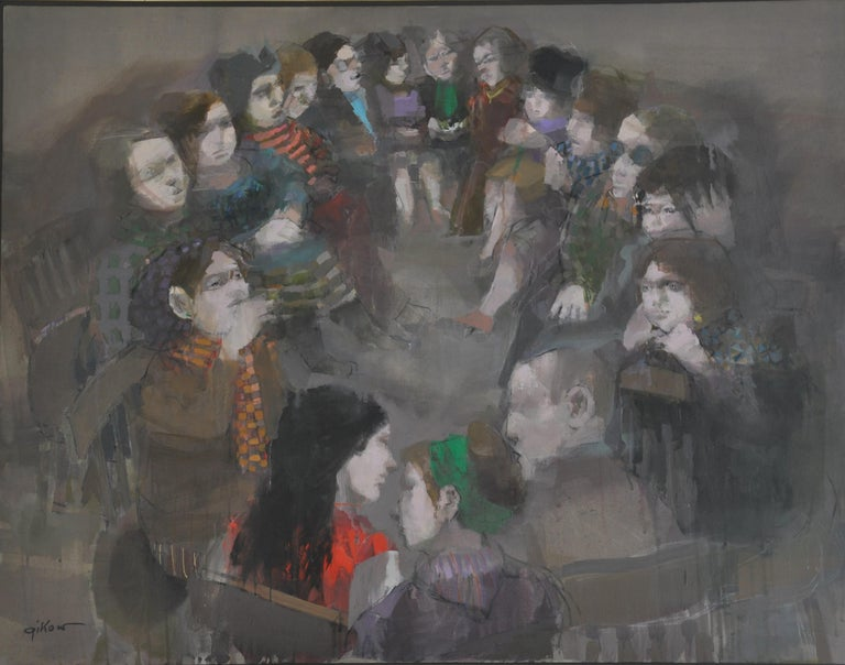 Group Therapy - Painting by Ruth Gikow