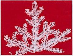 """Fir Tree,"" Original Color Silkscreen signed by Ruth Grotenrath"