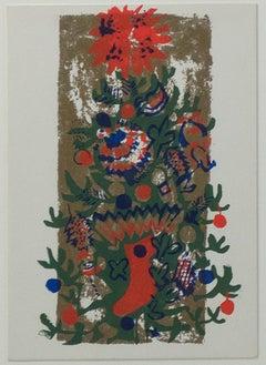 """O'Tannenbaum,"" Original Color Silkscreen signed by Ruth Grotenrath"