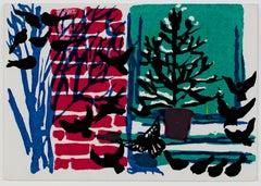 """""""Yule Dancers,"""" original color silkscreen by Ruth Grotenrath"""