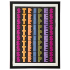 """Ruth Jacoby """"Stripes"""", Collage, Signed"""
