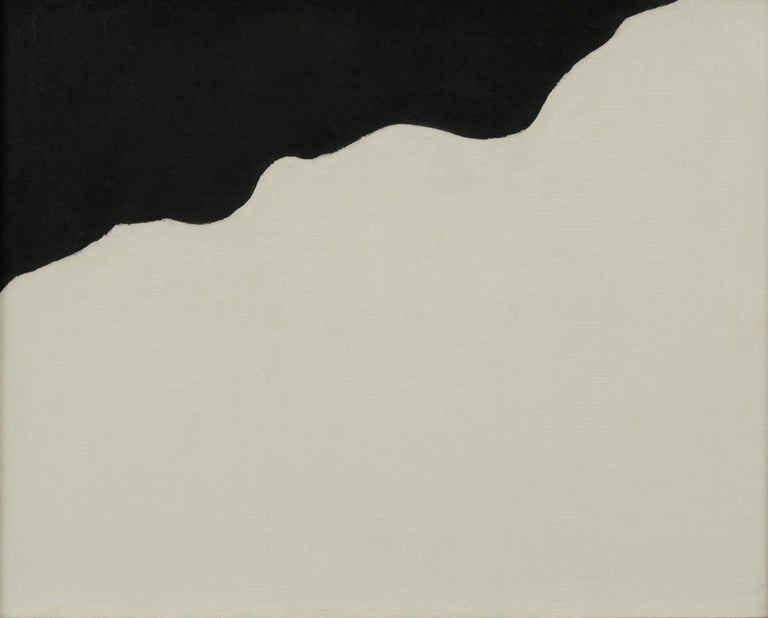 Ruth Kligman Abstract Painting - Untitled (Abstract in Black and White)