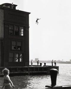 Boy Jumping into Hudson River, Gansevoort Pier