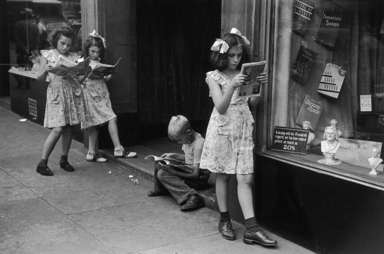 Ruth Orkin Portrait Photograph - Comic Book Readers, West Village, NYC