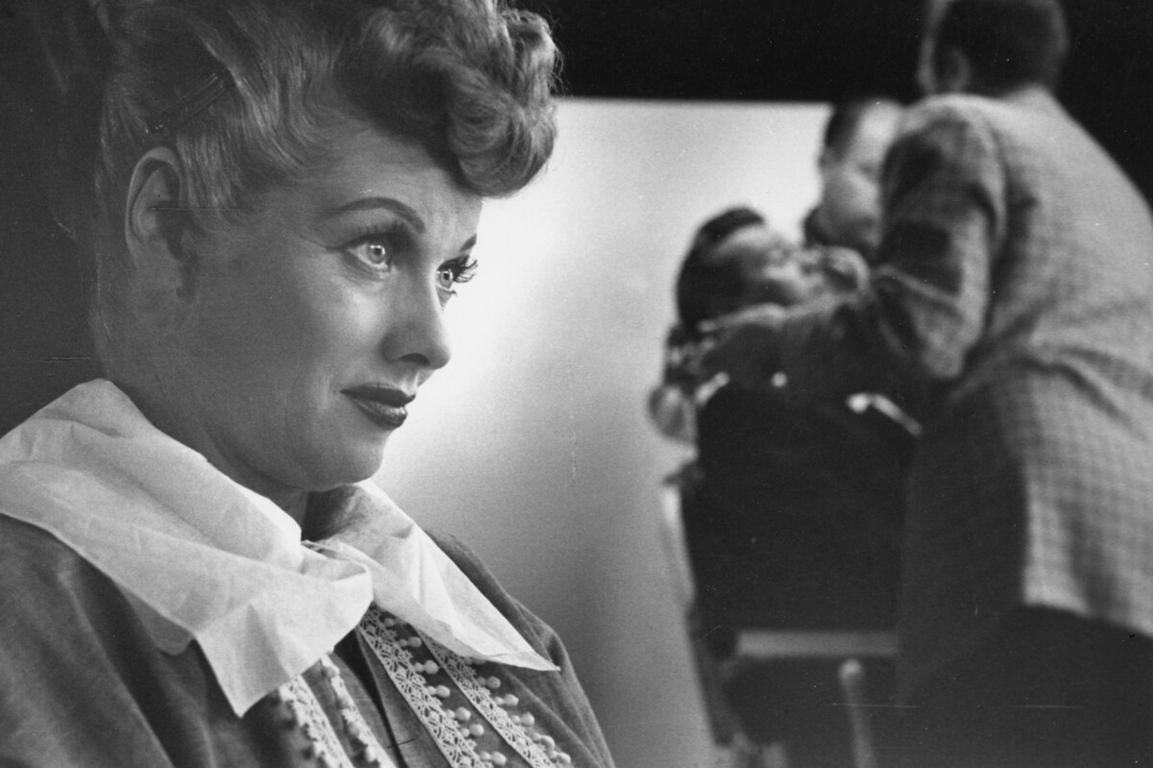 """Lucille Ball, """"I Love Lucy"""" set, Hollywood, CA"""