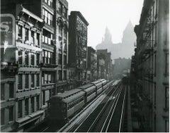 Manhattan El, New York, gelatin silver, modern print