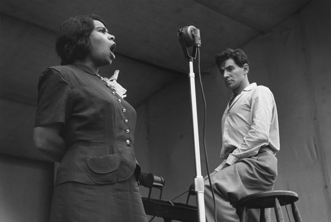 Marion Anderson and Leonard Bernstein, Lewisohn Stadium, NYC