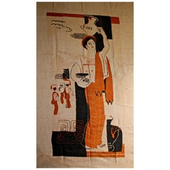 Ruth Reeves Wall Hanging, circa 1930 American Modernist
