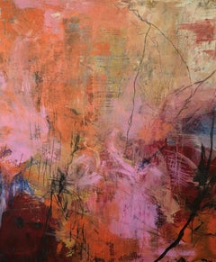 Fire and Air by Ruth Schleeh- Red energetic abstract, contemporary painting