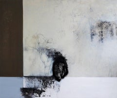 Simplicity by Ruth Schleeh -Black, White minimal abstract, contemporary painting