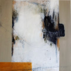 Stolen Moments by Ruth Schleeh Gold beige contemporary minimal abstract painting