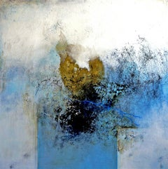 Tranquility by Ruth Schleeh -Blue minimal abstract, contemporary painting