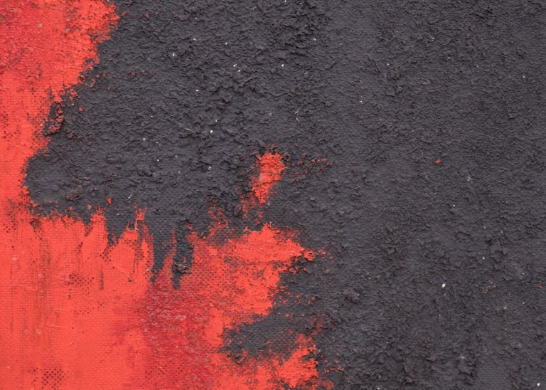 The Demolished Man (Universal Landscape Series), Mixed Media Painting, Black Red For Sale 2