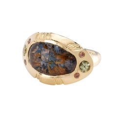 Rutilated Quartz Eclipse Ring