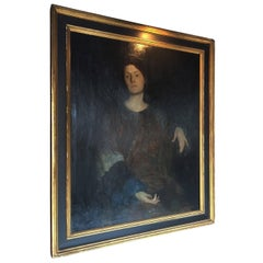 "Rutledge Bate 1920 Oil Painting ""Portrait of a Woman"""