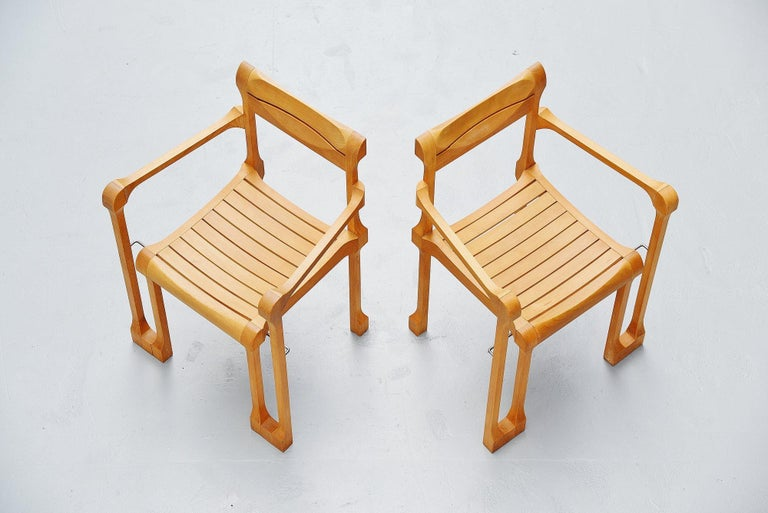 Ruud Jan Kokke Armchairs Holland 1990 In Good Condition For Sale In Roosendaal, Noord Brabant