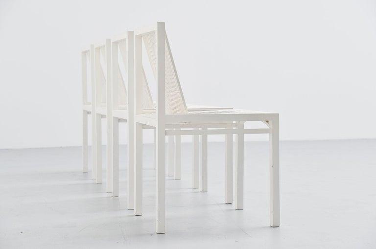 Mid-Century Modern Ruud Jan Kokke Dining Chairs Metaform 1984 For Sale