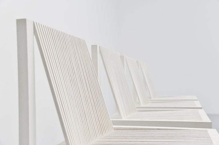 Cold-Painted Ruud Jan Kokke Dining Chairs Metaform 1984 For Sale