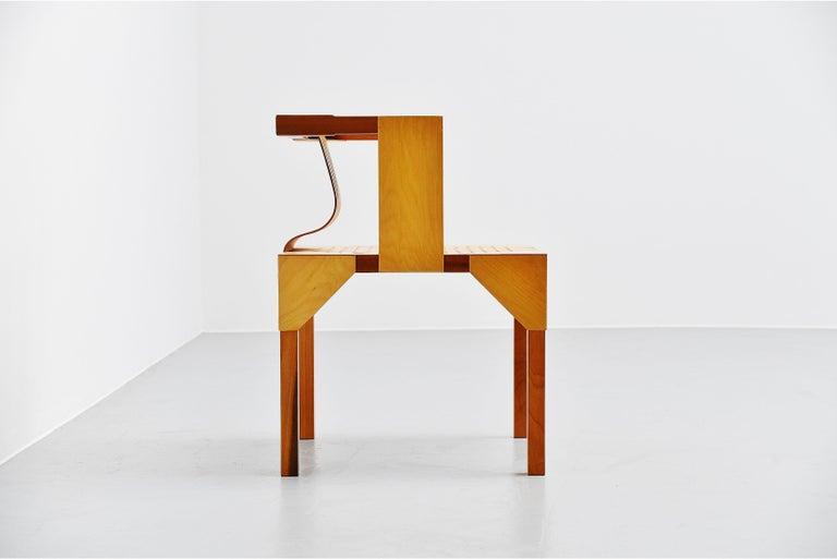 Late 20th Century Ruud Jan Kokke Modernist Slat Chair, Holland, 1986 For Sale