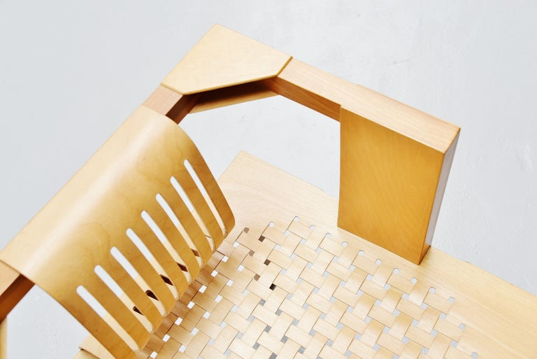 Ruud Jan Kokke Modernist Slat Chair, Holland, 1986 For Sale 1