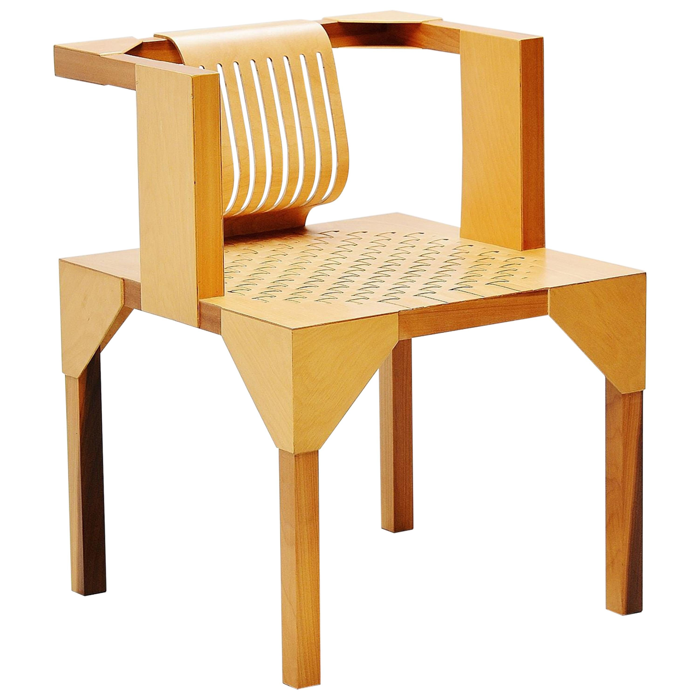 Ruud Jan Kokke Modernist Slat Chair, Holland, 1986