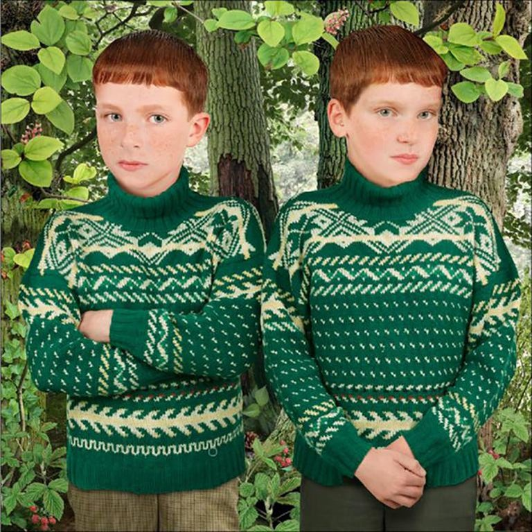 Ruud van Empel Color Photograph - Brothers & Sisters #1