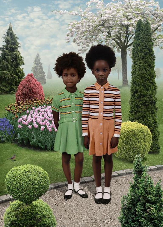 Sunday #4 - Ruud van Empel (Colour Photography) - Gray Color Photograph by Ruud van Empel