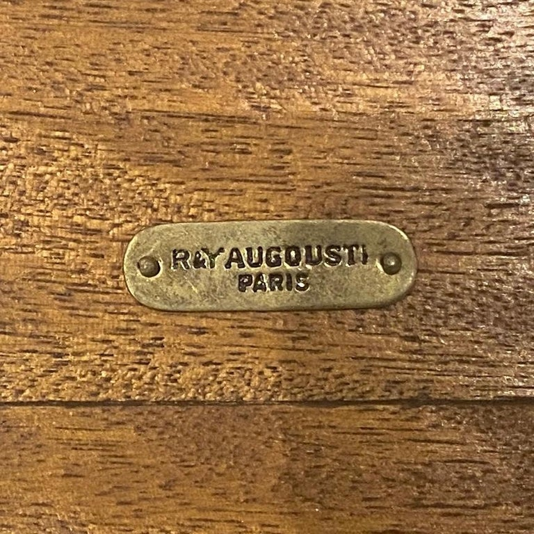 R&Y Augousti Bronze and Black Shell Coffee Table For Sale 2