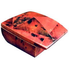 R&Y Augousti Mosaic Trinket Box in Exotic Red Pen-Shell