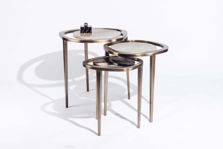 Art Deco Nesting Side Table
