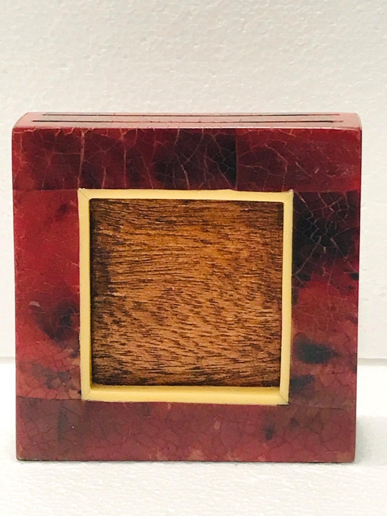 R&Y Augousti Organic Modern Picture Frame in Exotic Pen-Shell and Bone For Sale 4