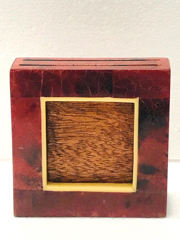 R&Y Augousti Organic Modern Picture Frame in Exotic Pen-Shell and Bone For Sale 6