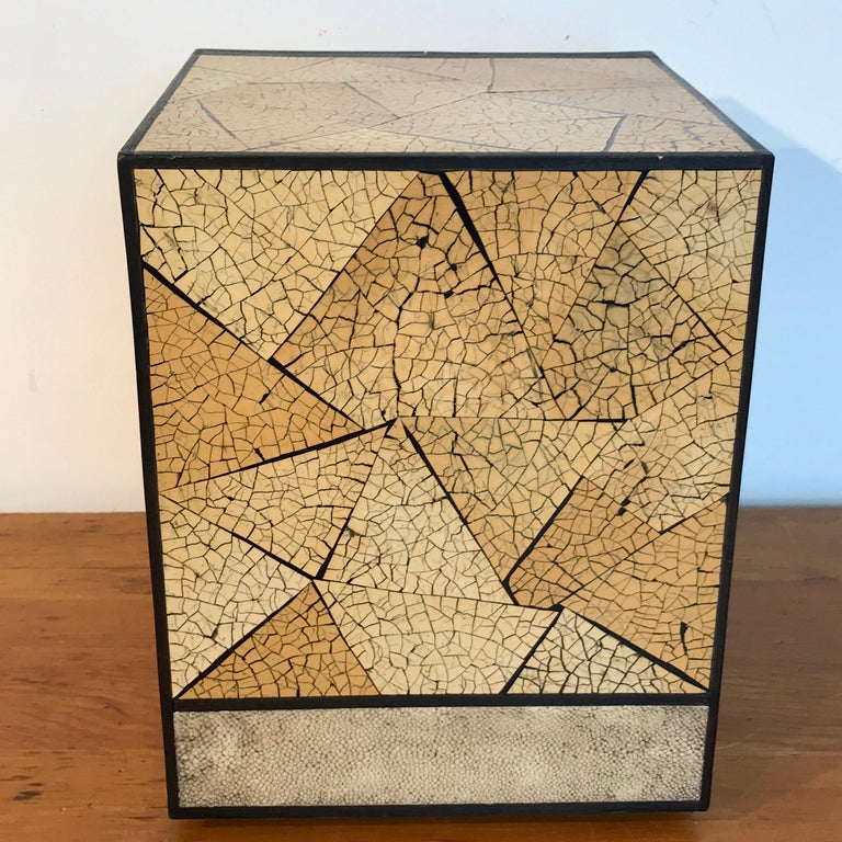 R&Y Augousti Shagreen and Lacquered Table Box, with Concealed Compartments For Sale 4