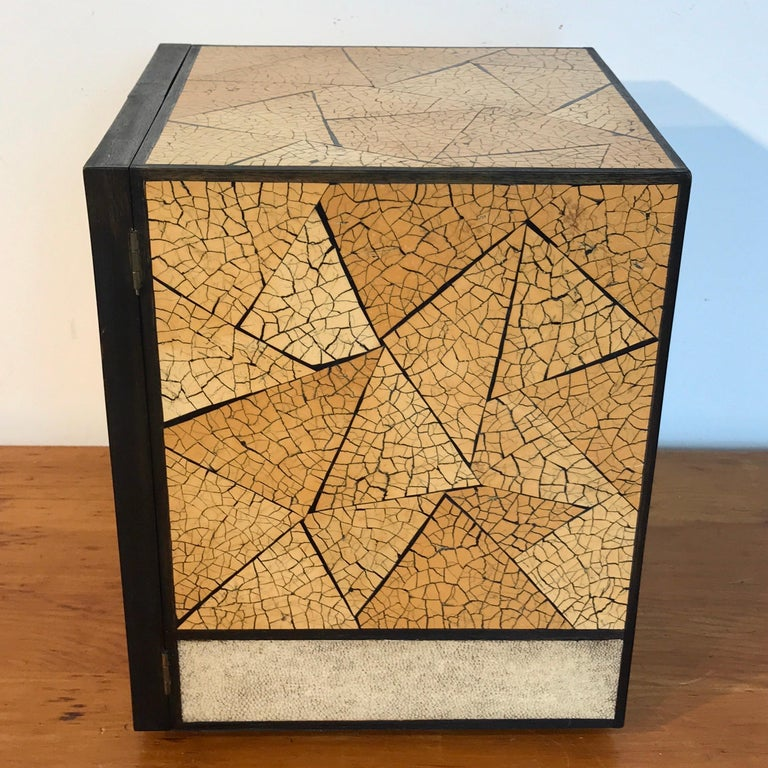 R&Y Augousti Shagreen and Lacquered Table Box, with Concealed Compartments For Sale 5