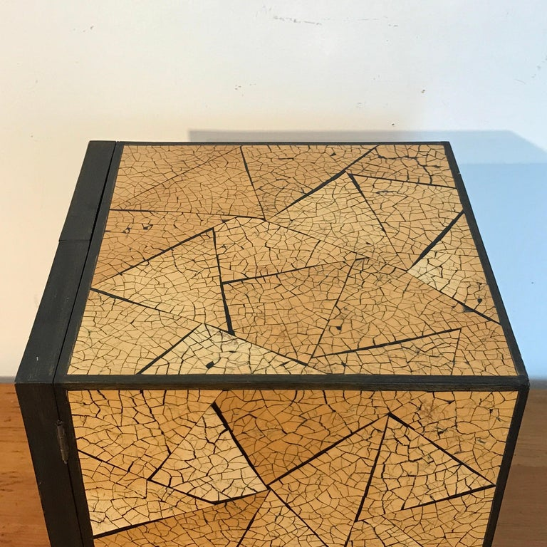 R&Y Augousti Shagreen and Lacquered Table Box, with Concealed Compartments For Sale 6