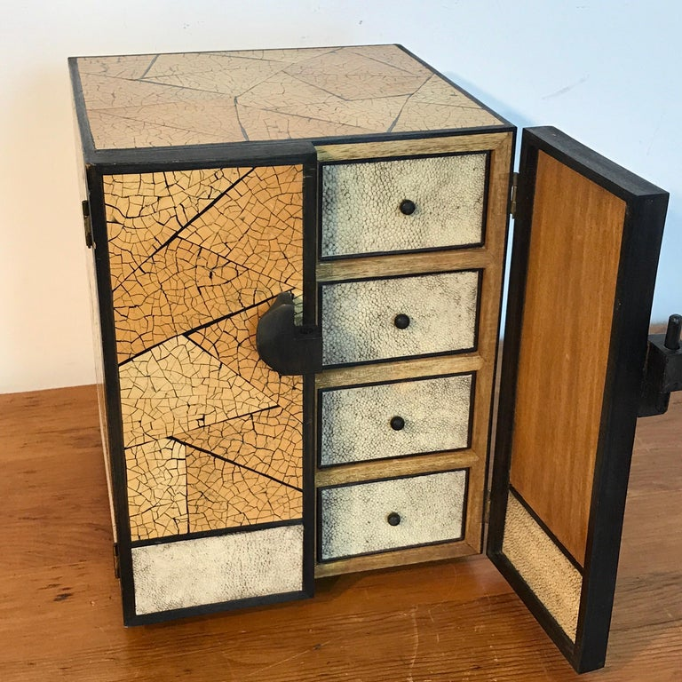 R&Y Augousti Shagreen and Lacquered Table Box, with Concealed Compartments For Sale 7