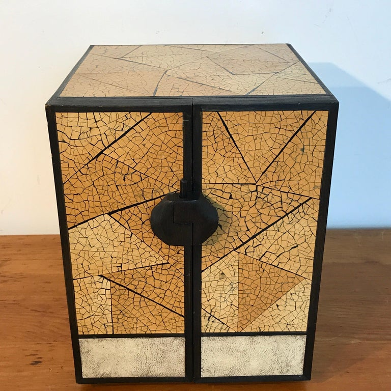 R&Y Augousti Shagreen and Lacquered Table Box, with Concealed Compartments For Sale 2