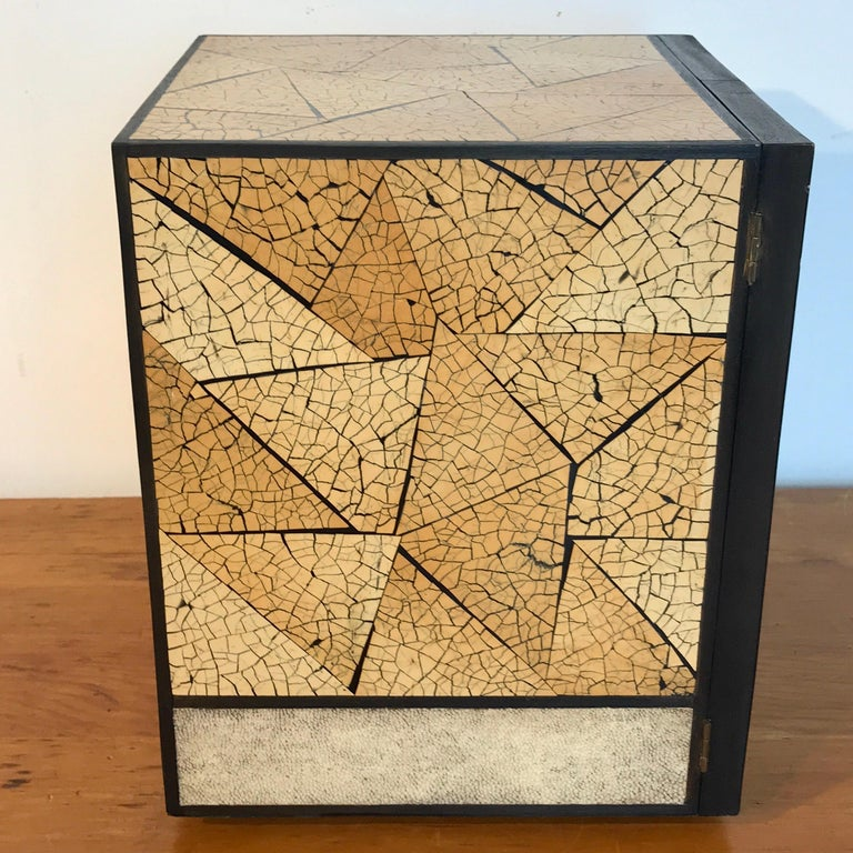 R&Y Augousti Shagreen and Lacquered Table Box, with Concealed Compartments For Sale 3