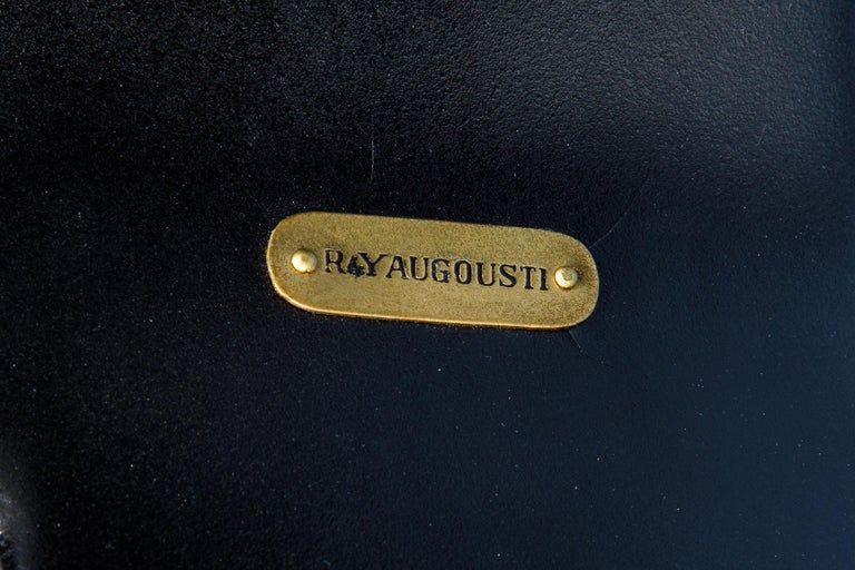 R&Y Augousti Shagreen Ring Side Table with Hidden Compartment and Tray, Signed For Sale 13