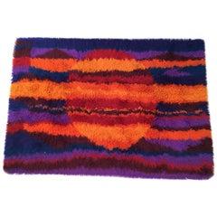 Rya Vintage Multi-Color Shag Rug