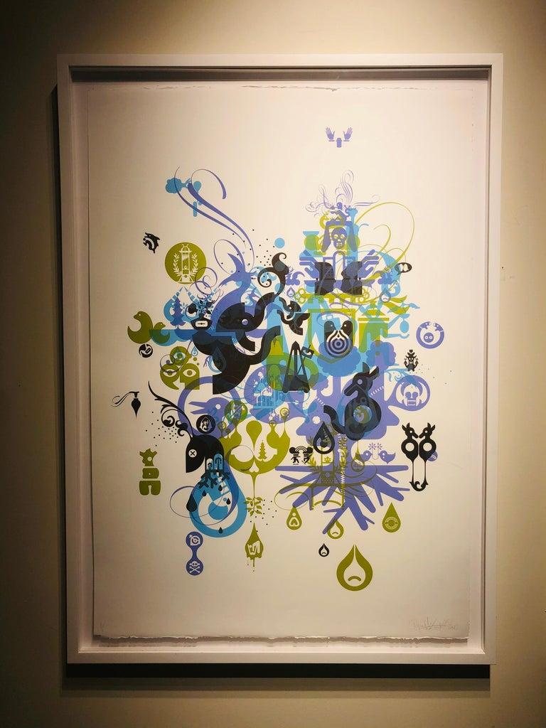 Soma-Monoprint - Contemporary Print by Ryan McGinness